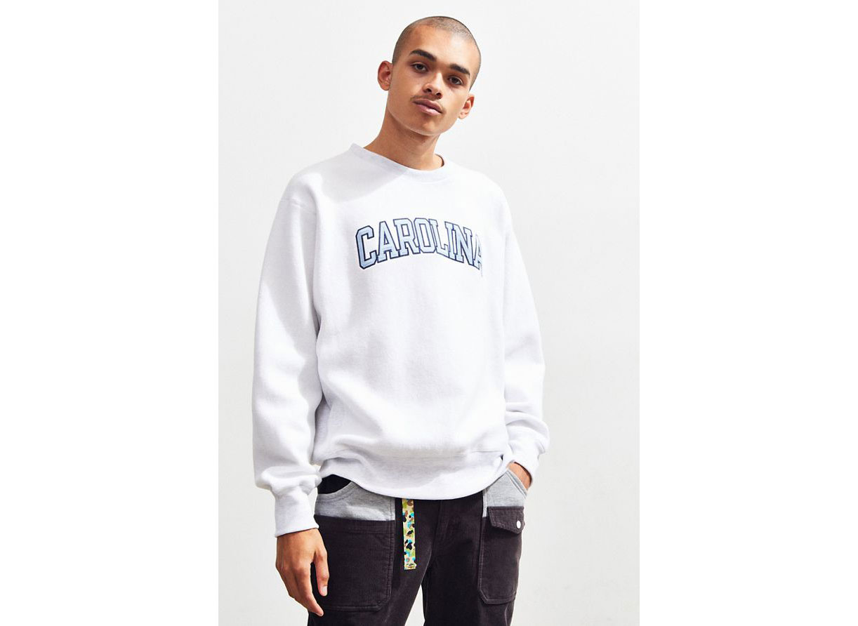 Champion UO Exclusive University Of North Carolina Inside Out Crew-Neck Sweatshirt: