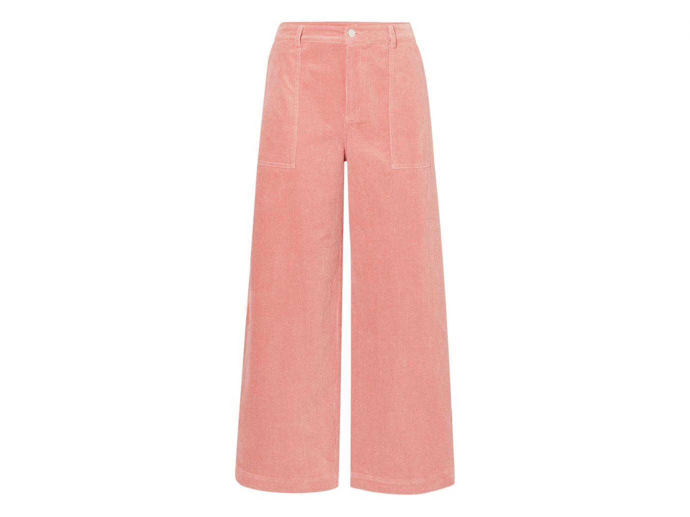 Ganni Ridgewood cotton-blend corduroy wide-leg pants