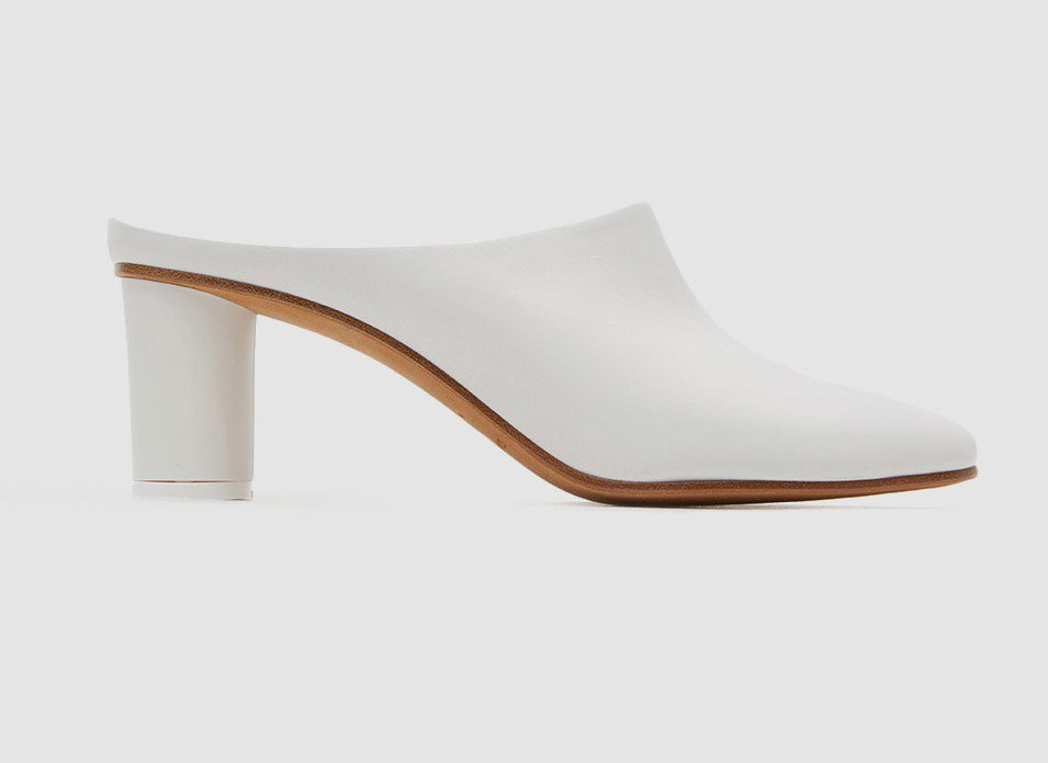 Gray Matters Micol Leather Mule in Bianco