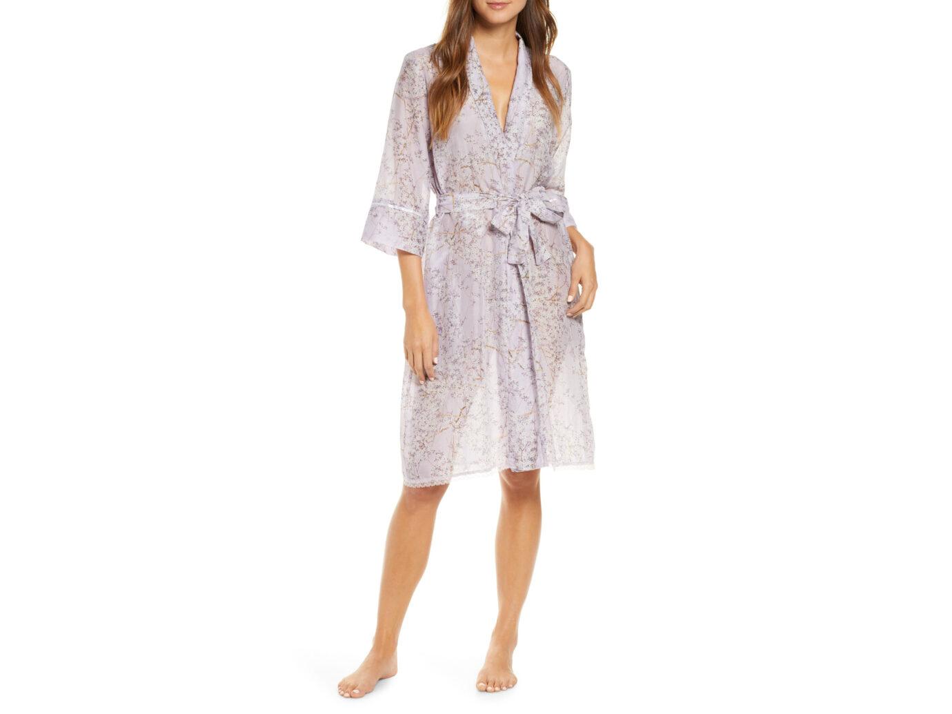 Papinelle Cherry Blossom Cotton & Silk Robe