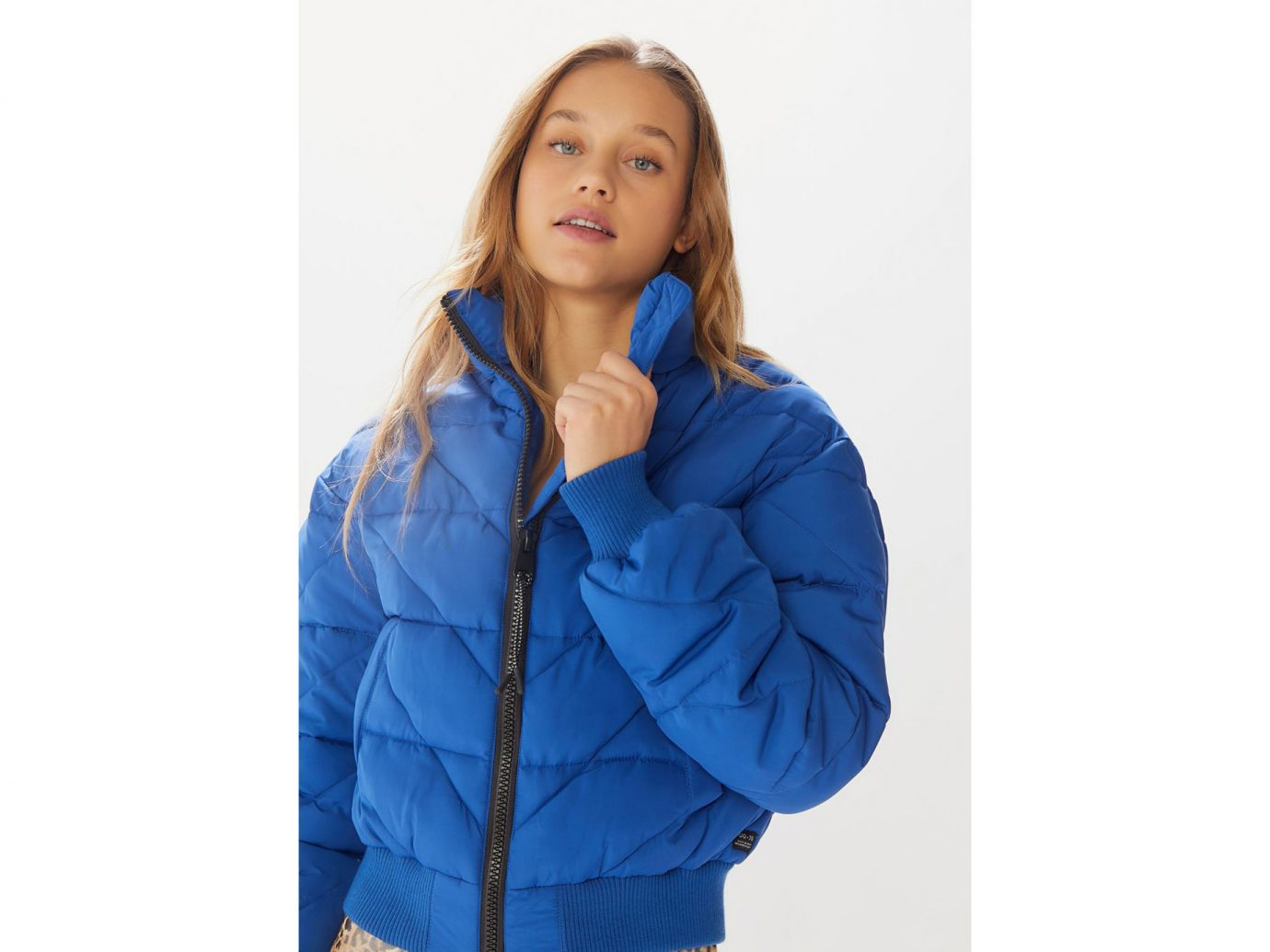 UO Quilted Cropped Puffer Jacket