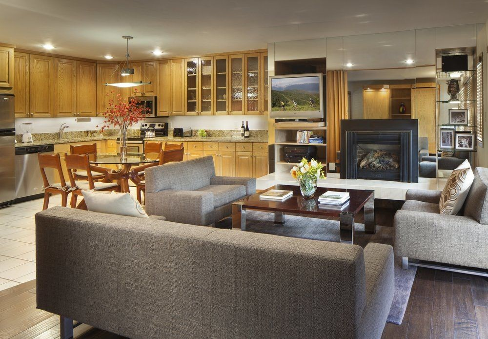 Living room at Manor Vail Lodge
