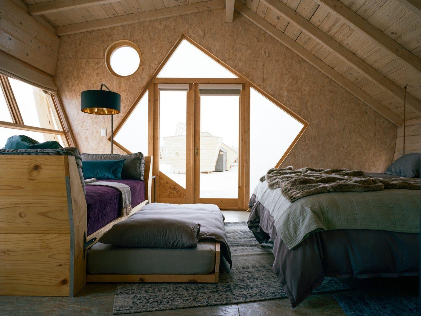 bedroom at Shipwreck Lodge