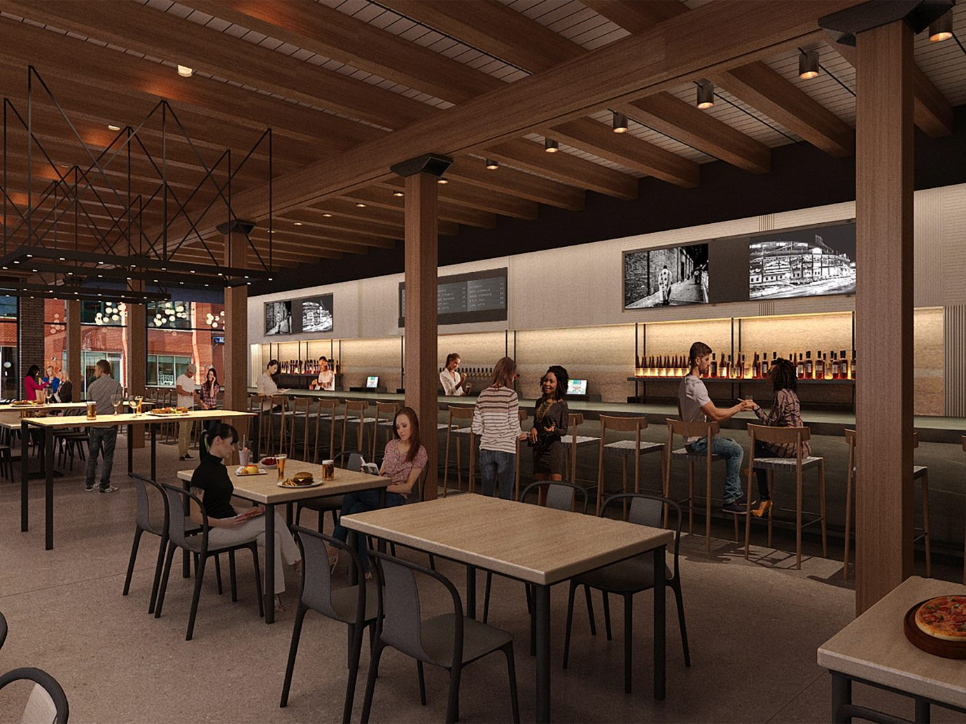 rendering of Galley Group's hall in Fulton Market