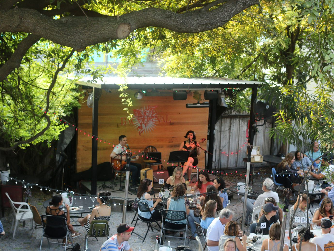 outdoor music at Bacchanal