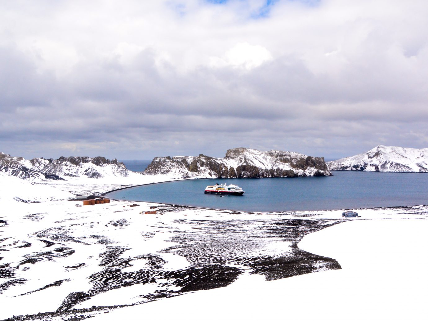 Deception Island with Midnatsol