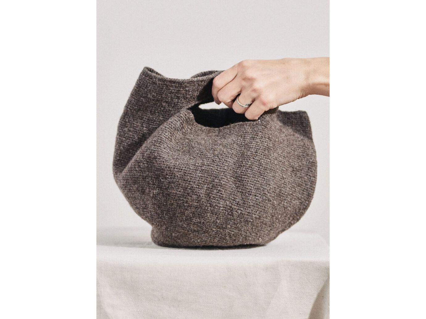 Lauren Manoogian Baby Bowl wool tote