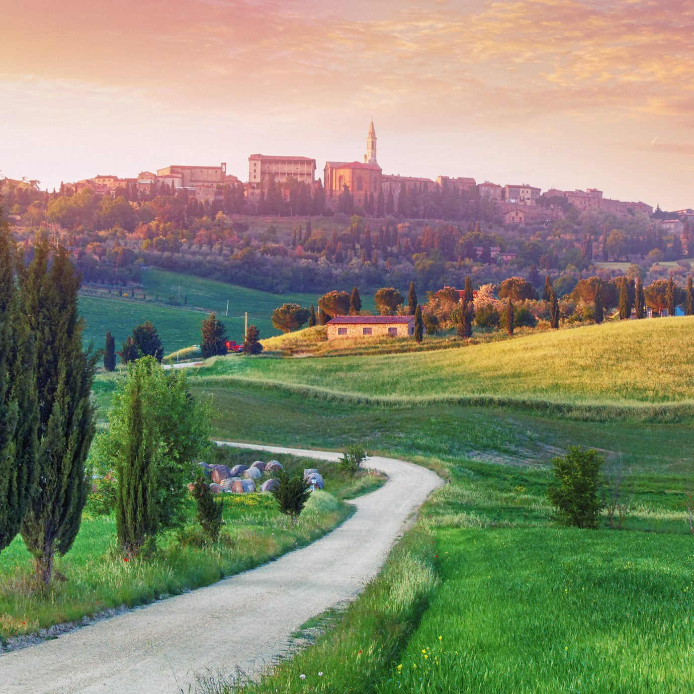 Scenery in Val d'Orcia, Italy