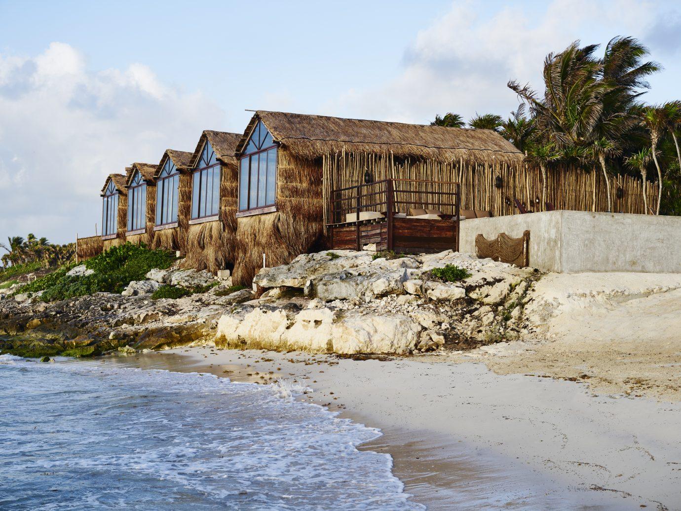Habitas Tulum exterior next to beach