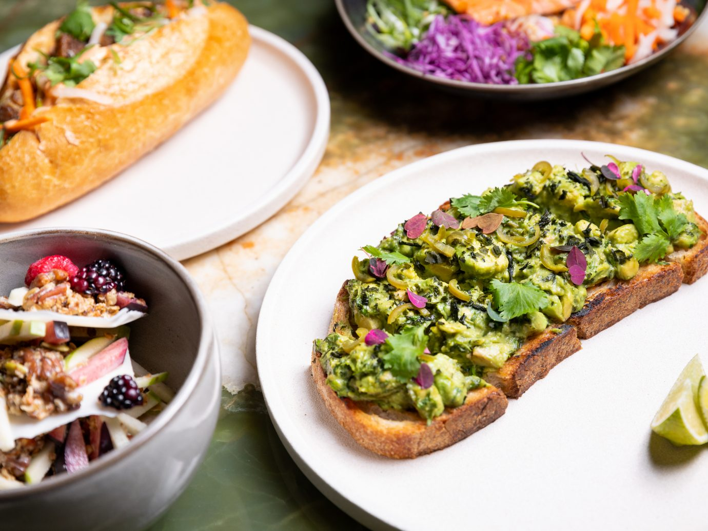 Brunch dishes from L.P.