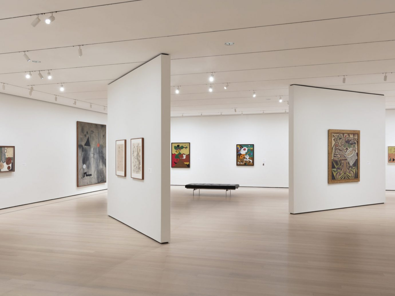 Installation view of Joan Miró: Birth of the World, The Museum of Modern Art, New York, February 24–June 15, 2019. © 2019 The Museum of Modern Art. Photo: Denis Doorly