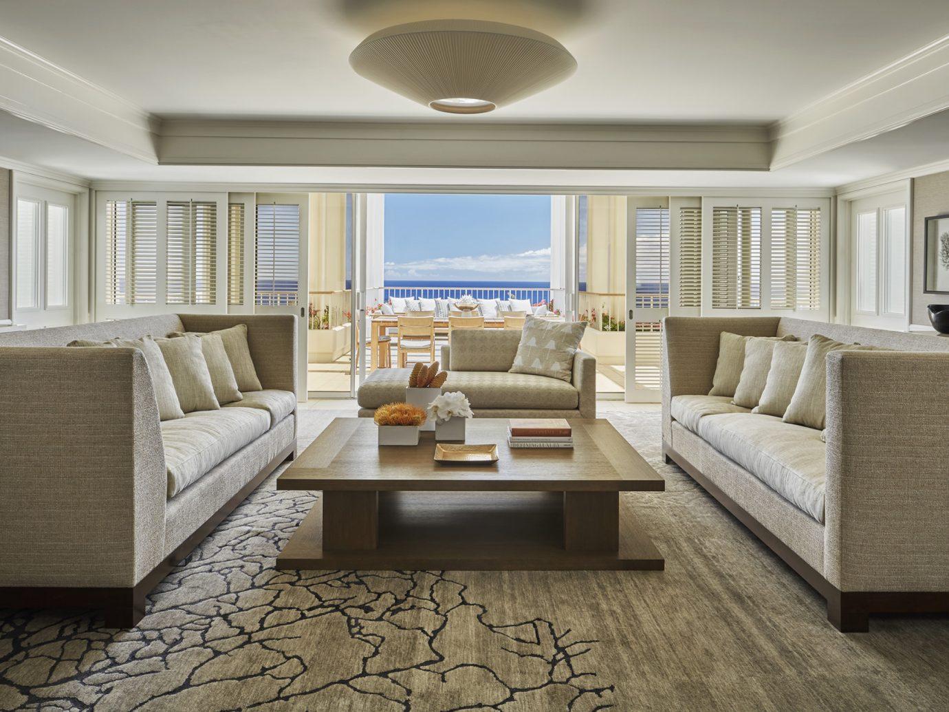 Living room of Four Seasons Resort Oahu at Ko Olina