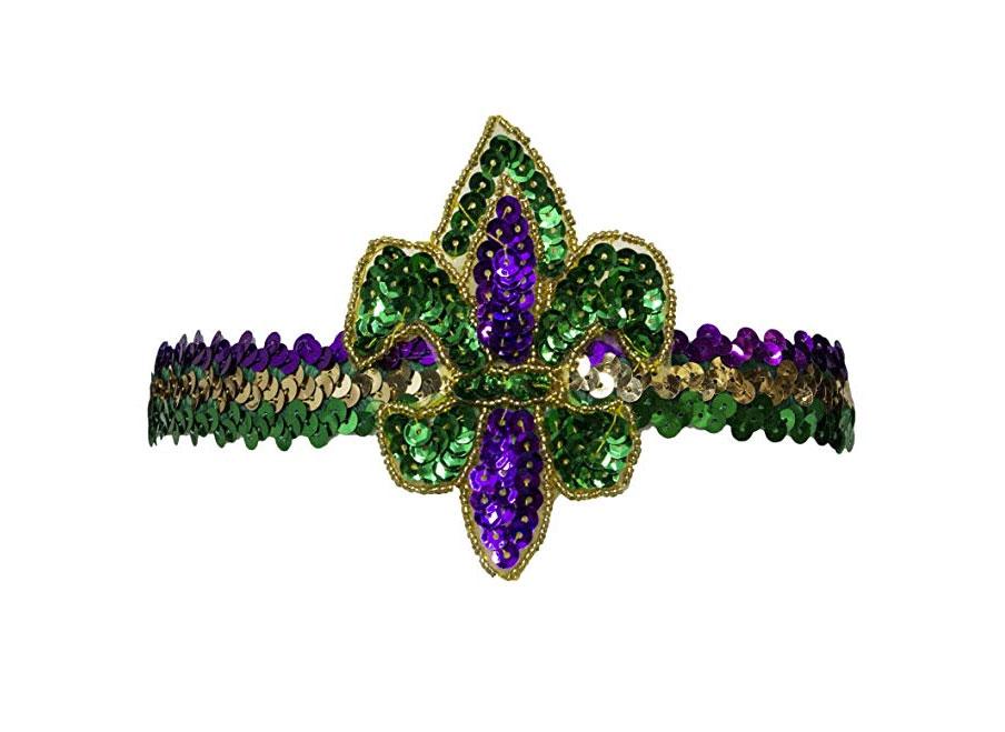Mardi Gras Fluer Di Lis Headband