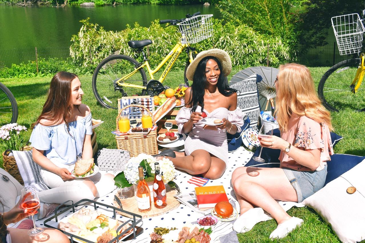 women having fun at a picnic