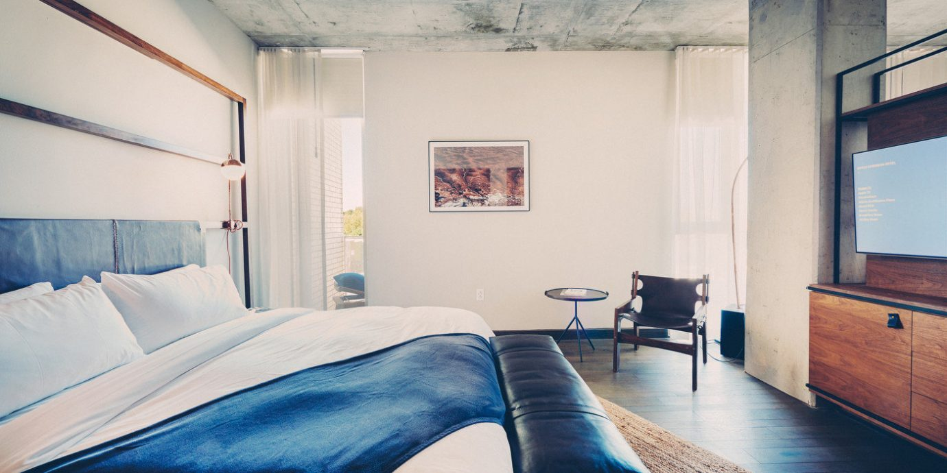 Bedroom of South Congress Hotel