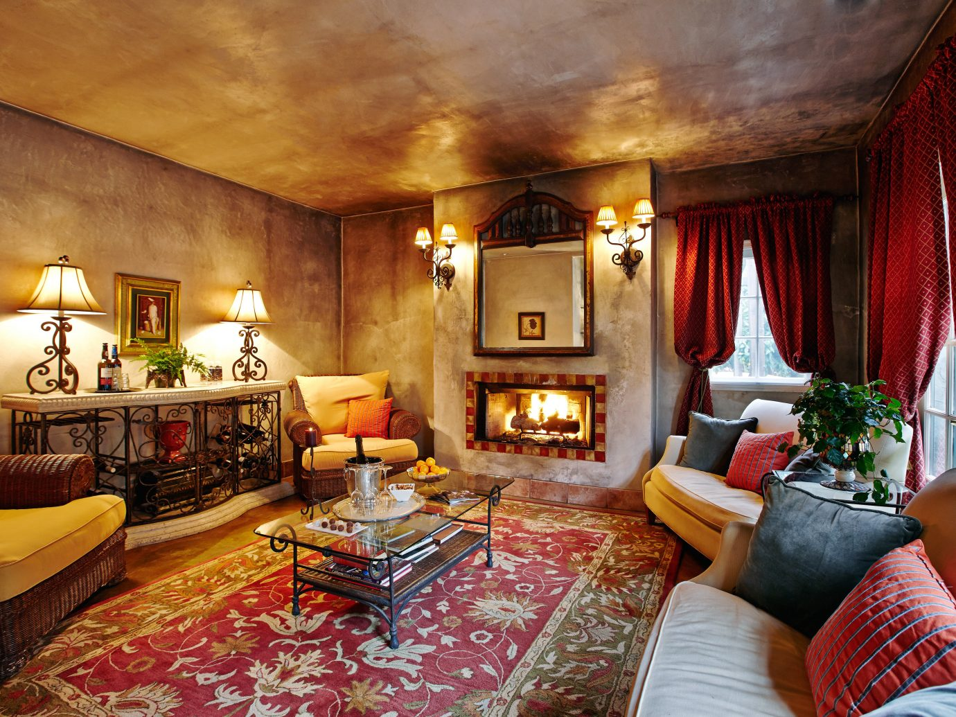 Living room at Kenwood Inn and Spa