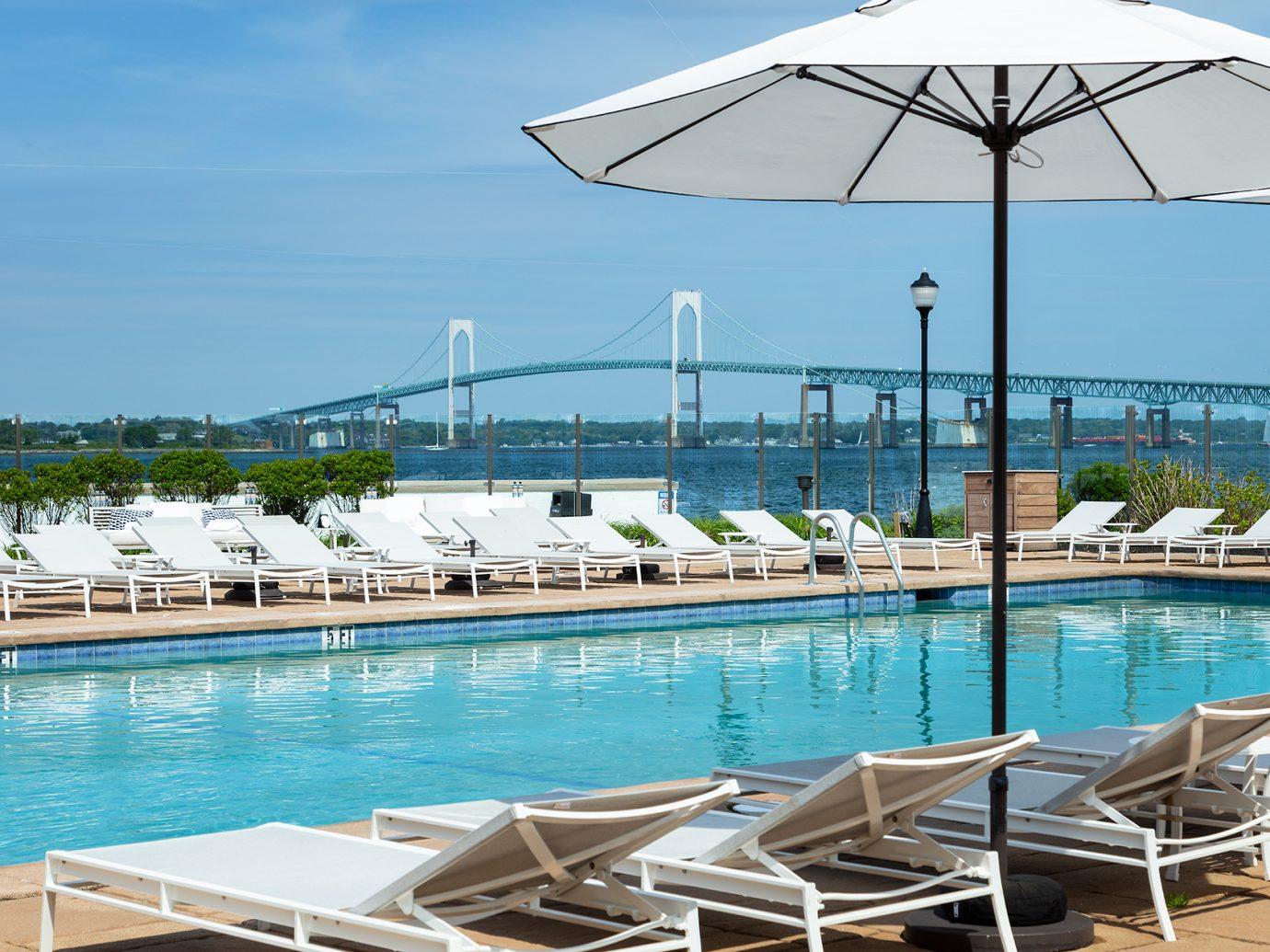 Pool view at Gurney's Newport