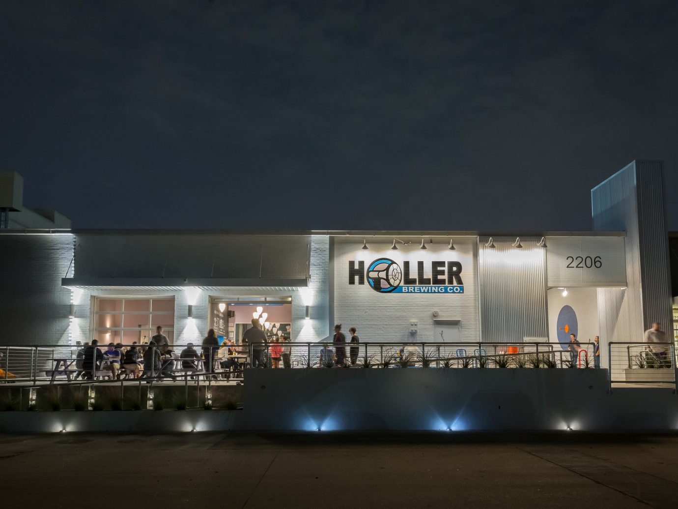 Exterior view of Holler Brewing Co