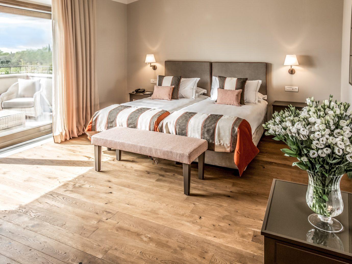 Bedroom at Hotel Il Castelfalfi in Tuscany