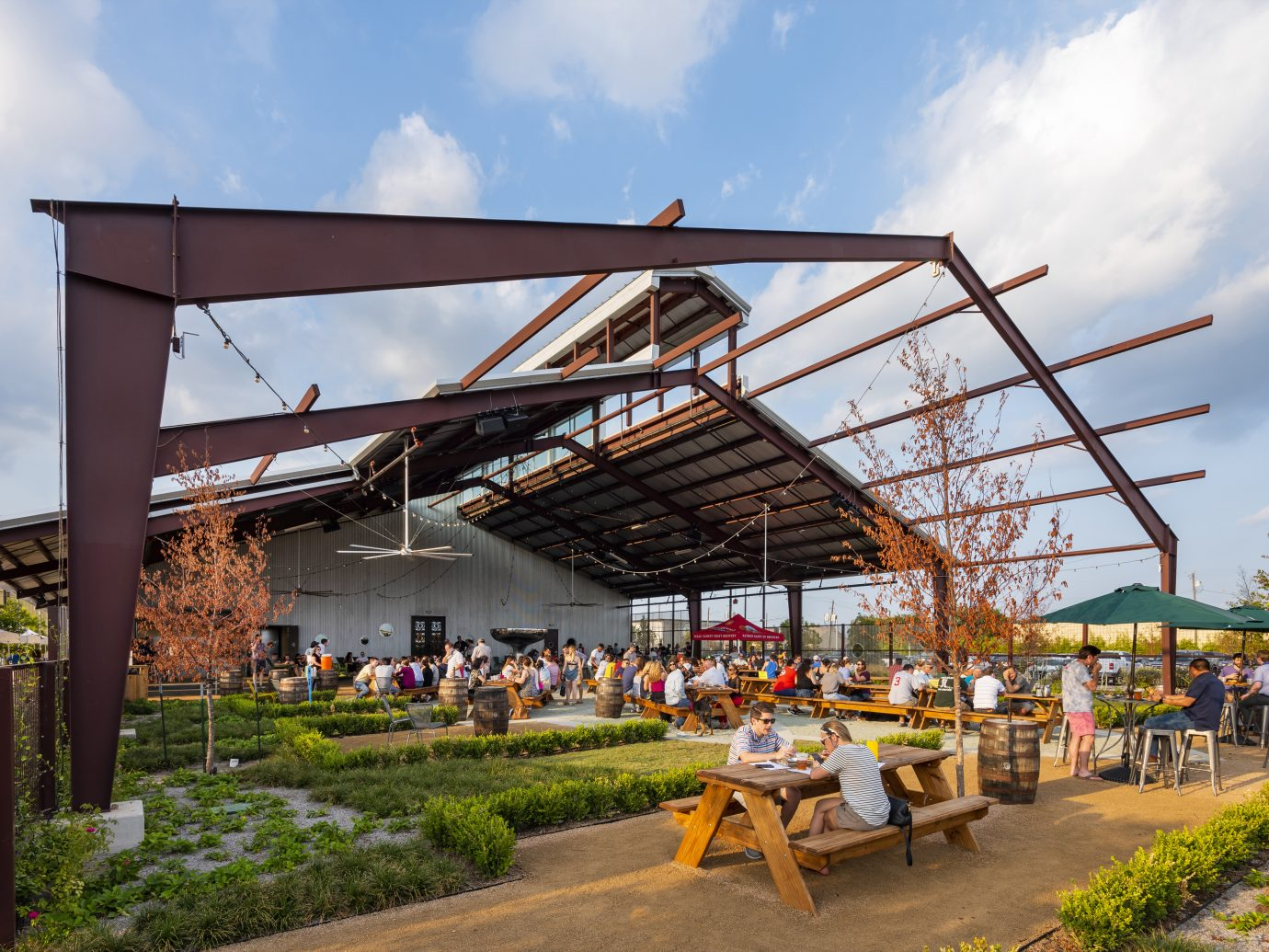 Outdoor Patio at Saint Arnold Brewery Co