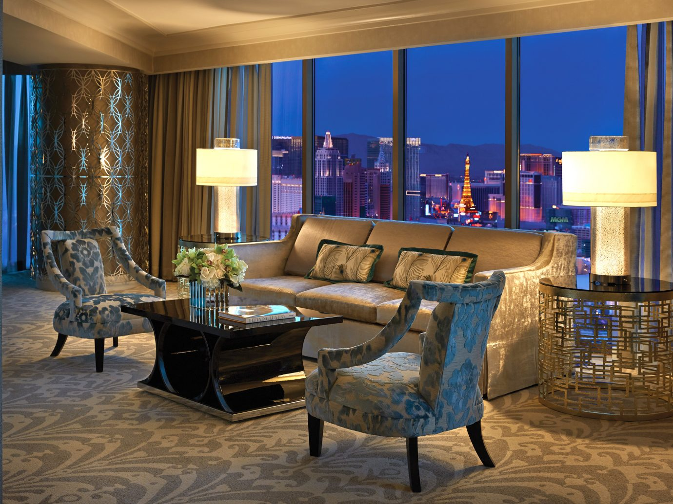 Living room at the Presidential suite at the Four Seasons Las Vegas