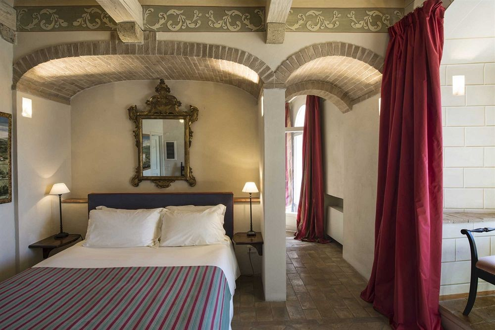 Bedroom view of Castello di Velona