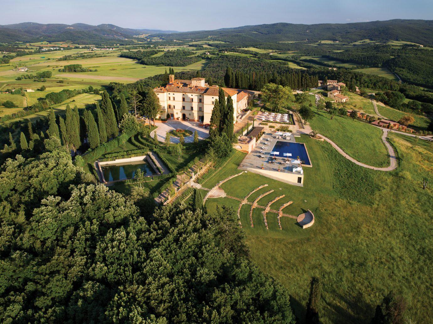 Aerial view of Belmond Castello di Casole