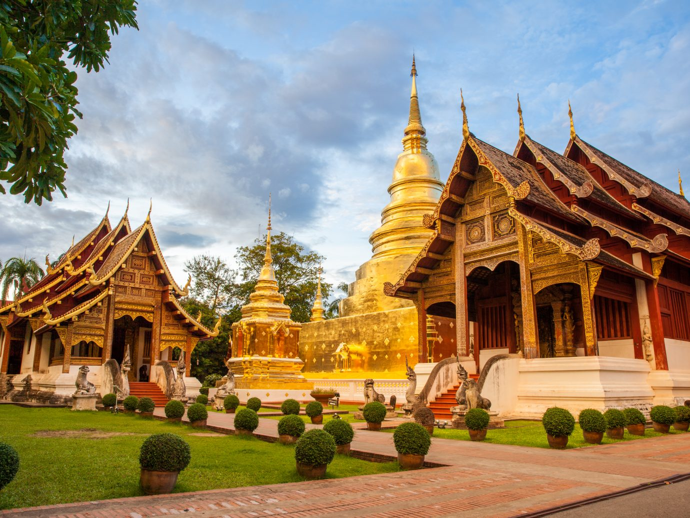 Wat Phra Singh Woramahaviharn. Buddhist temple in Chiang Mai, Thailand.
