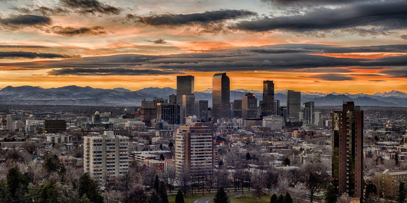 Denver, Colorado view from Cheesman Park