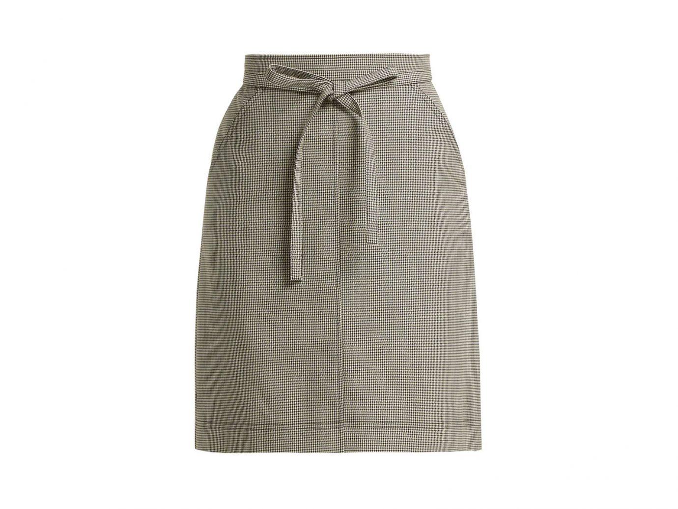 Alexa Chung Puppytooth A-line Wool-blend Skirt