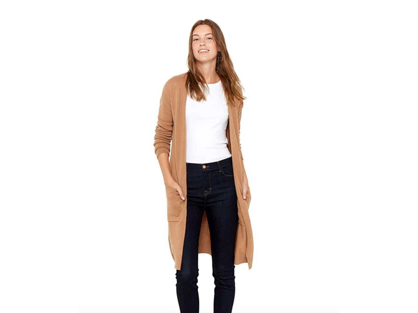 State Cashmere Open Cardigan