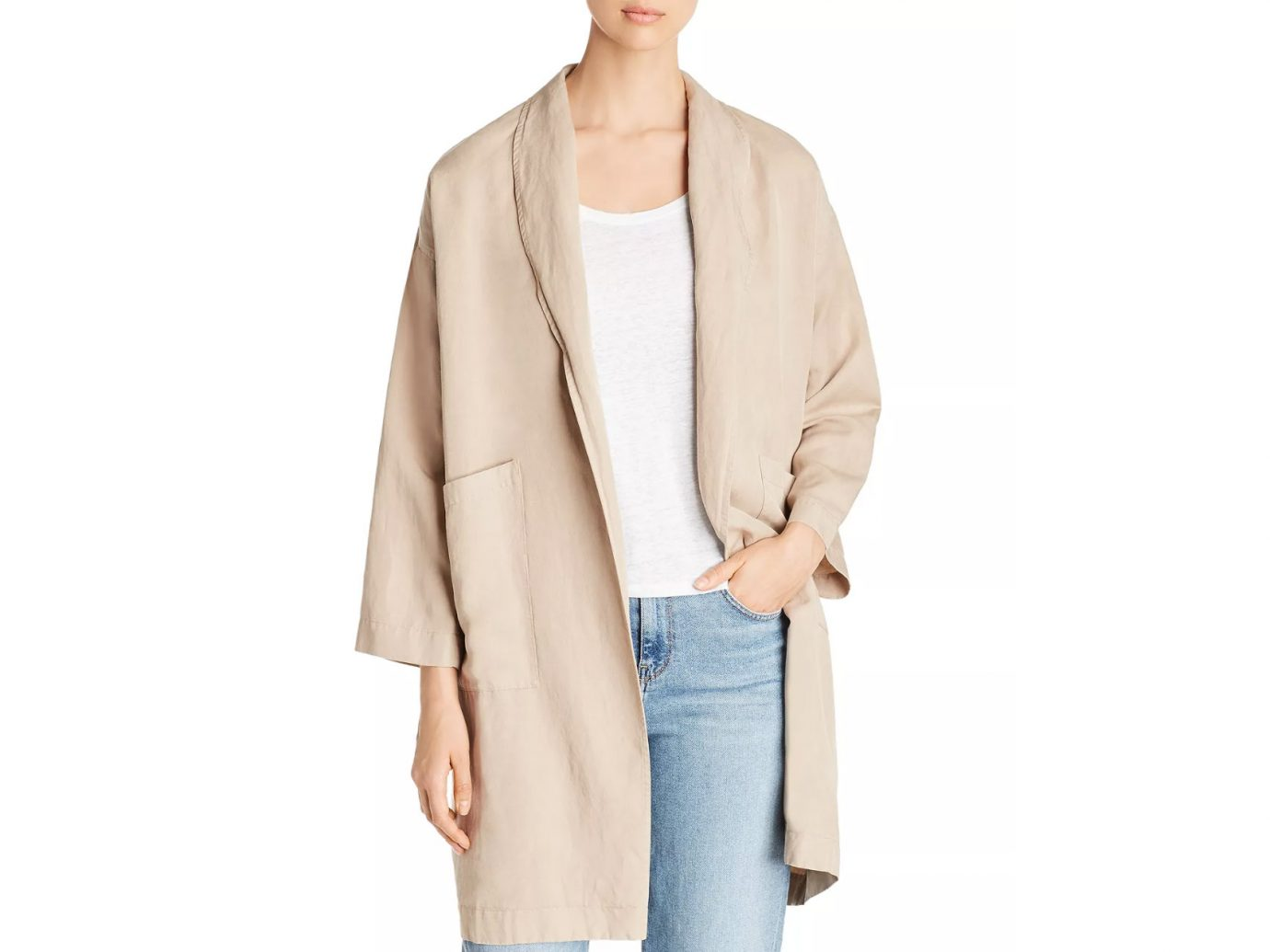 Eileen Fisher Relaxed Open-Front Jacket