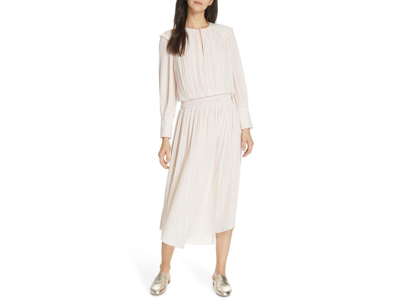 Joie Pleat Midi Dress