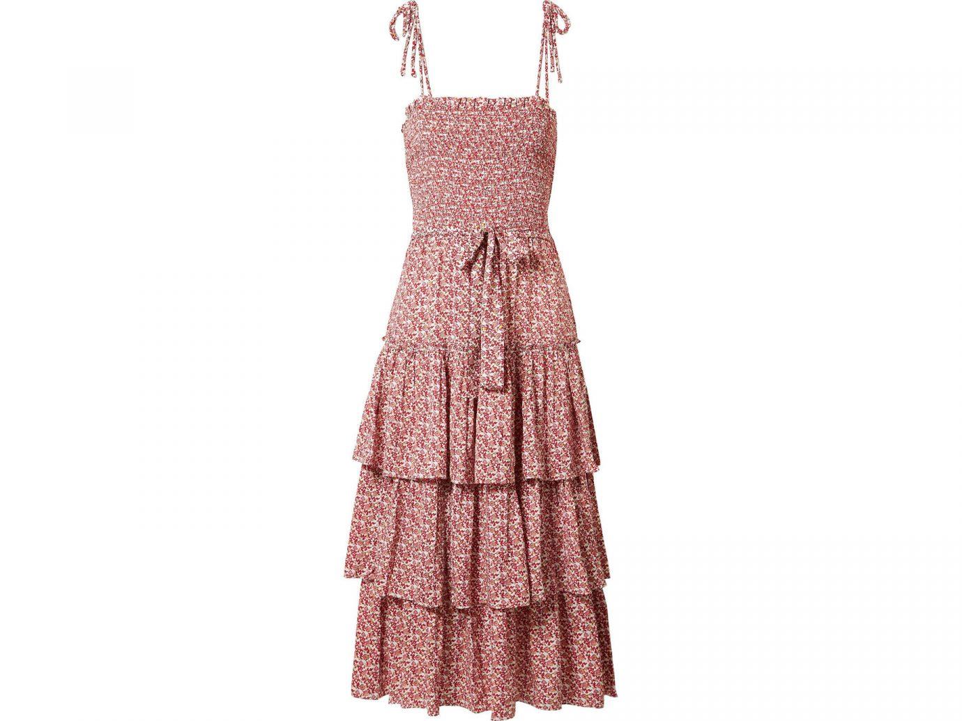 Tory Burch Ruffled smocked floral-print midi dress