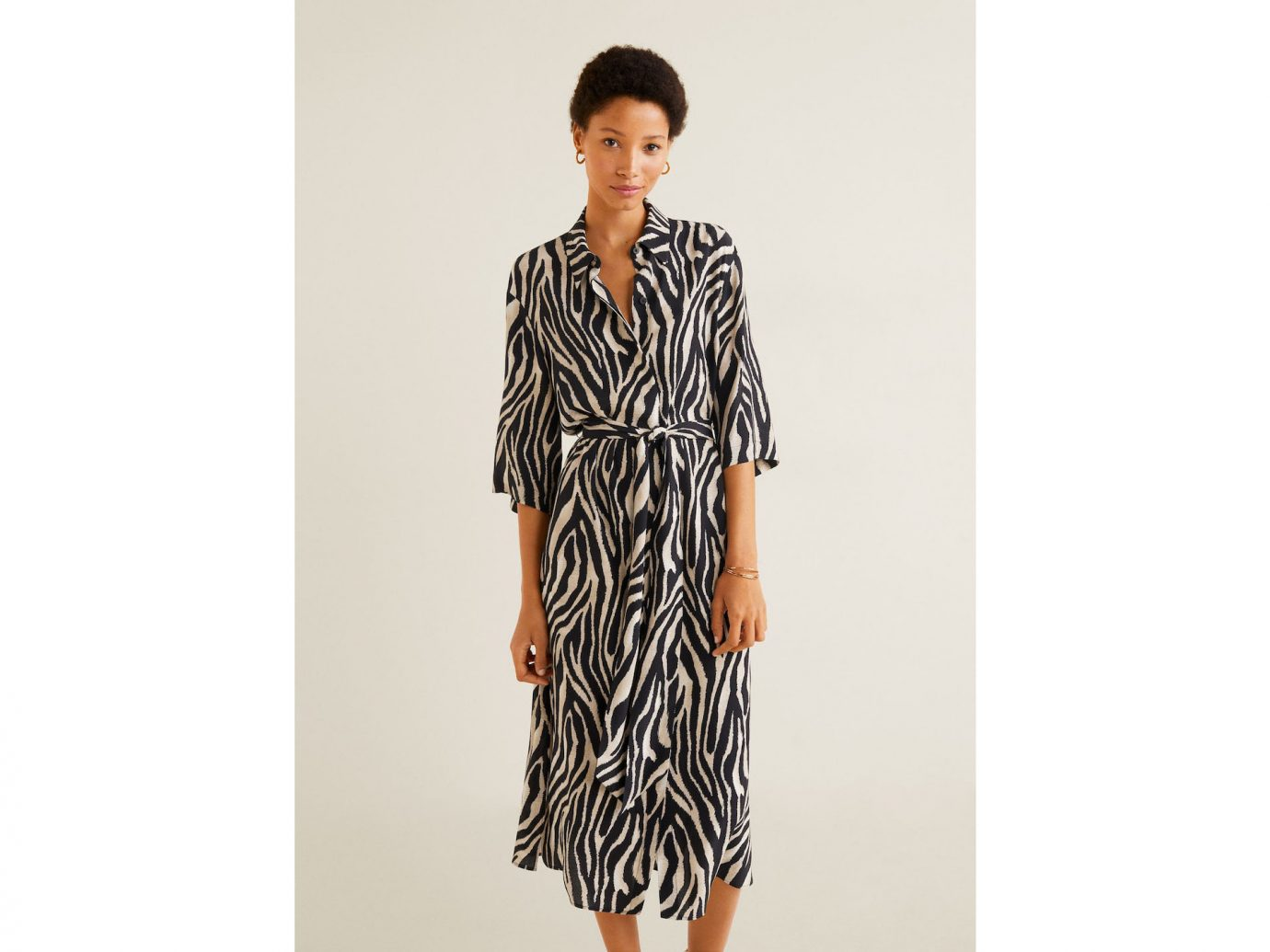 Mango Animal print shirt dress