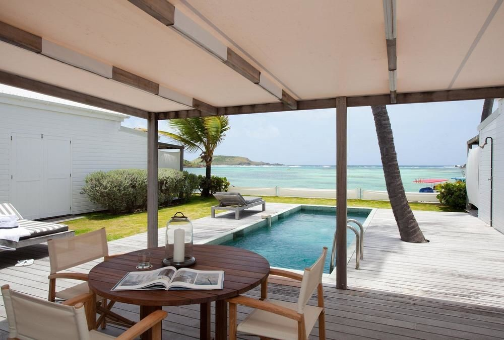 Private pool at Le Sereno in St. Barts