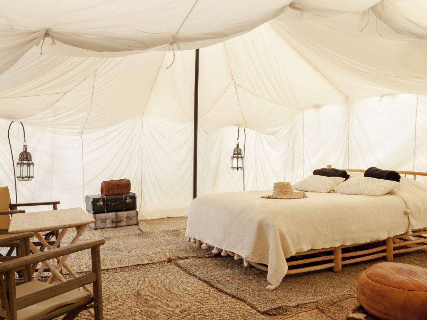 bedroom at Scarebo Camp in Morocco