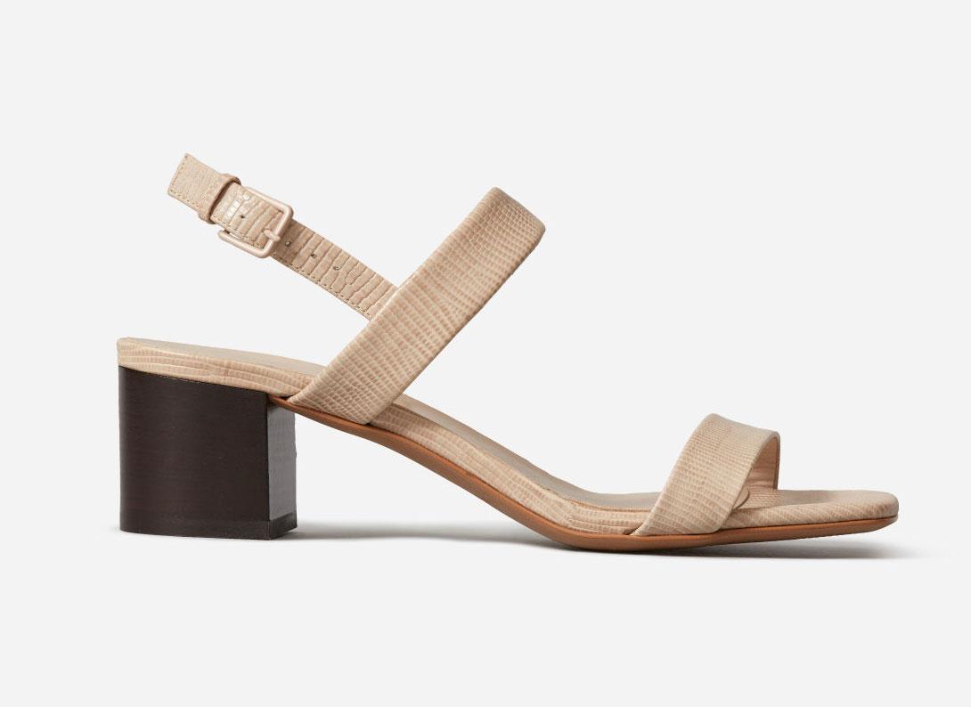 Everlane The Double-Strap Block Heel Sandal