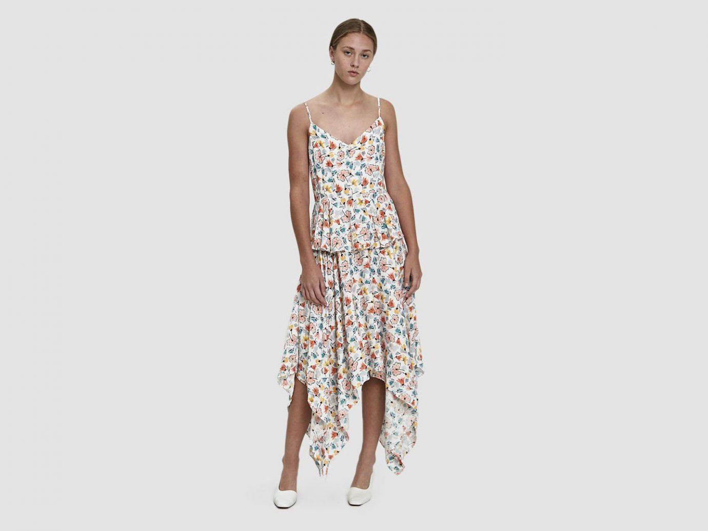 Farrow Madison Tiered Handkerchief Dress