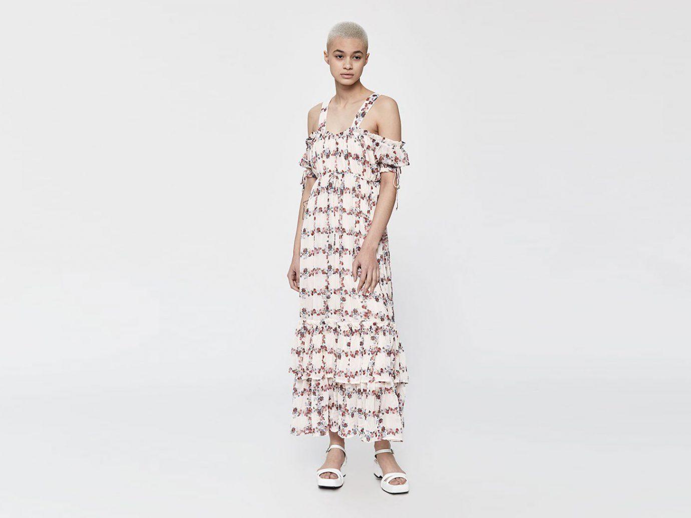 Farrow Marie Tiered Maxi Long Dress