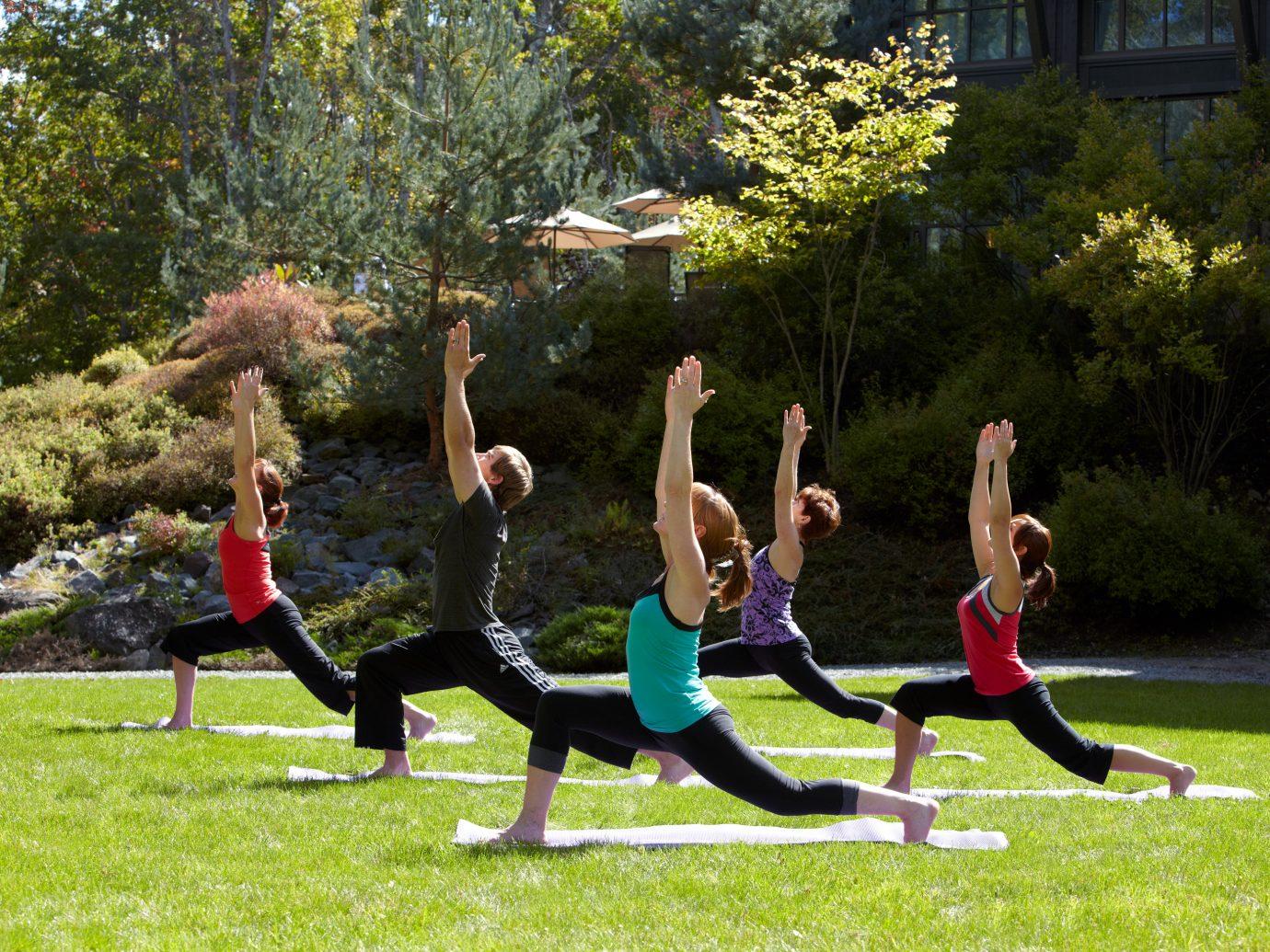 Group doing yoga at Lodge at Woodloch