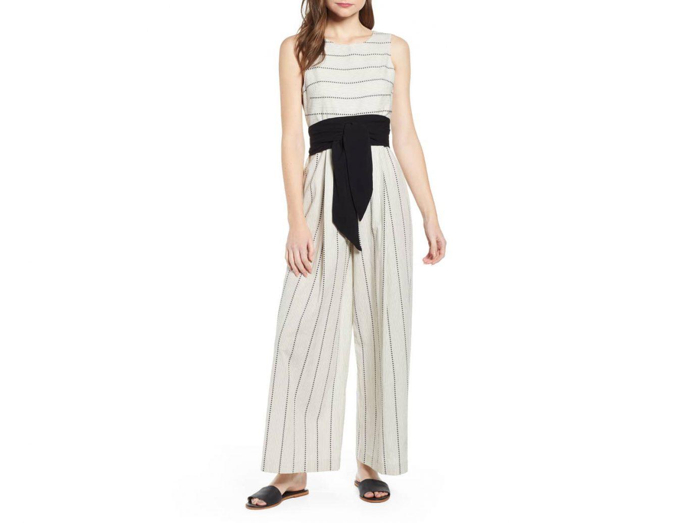 Damsel x THE ODELLS Stripe Wide Leg Cotton Jumpsuit