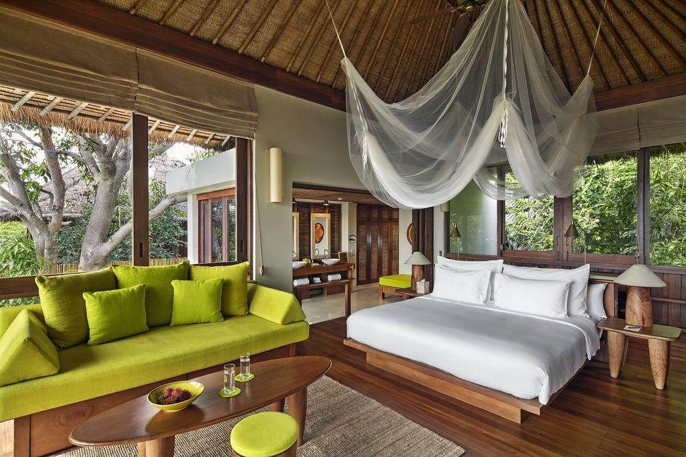 bedroom at Six Senses Samui