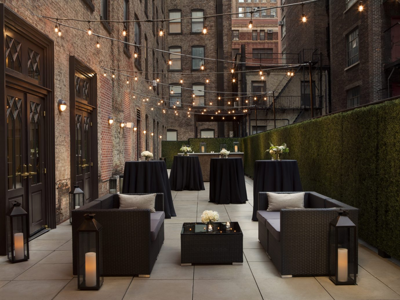 Outdoor patio at The Redbury, New York City