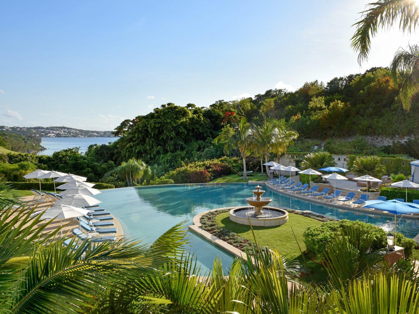 Pool and ocean view at Rosewood Bermuda