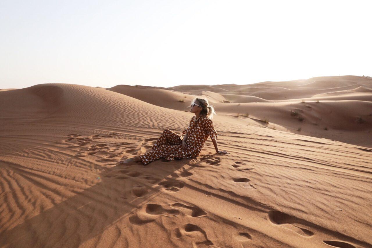 Jacey Duprey in the sahara desert morocco