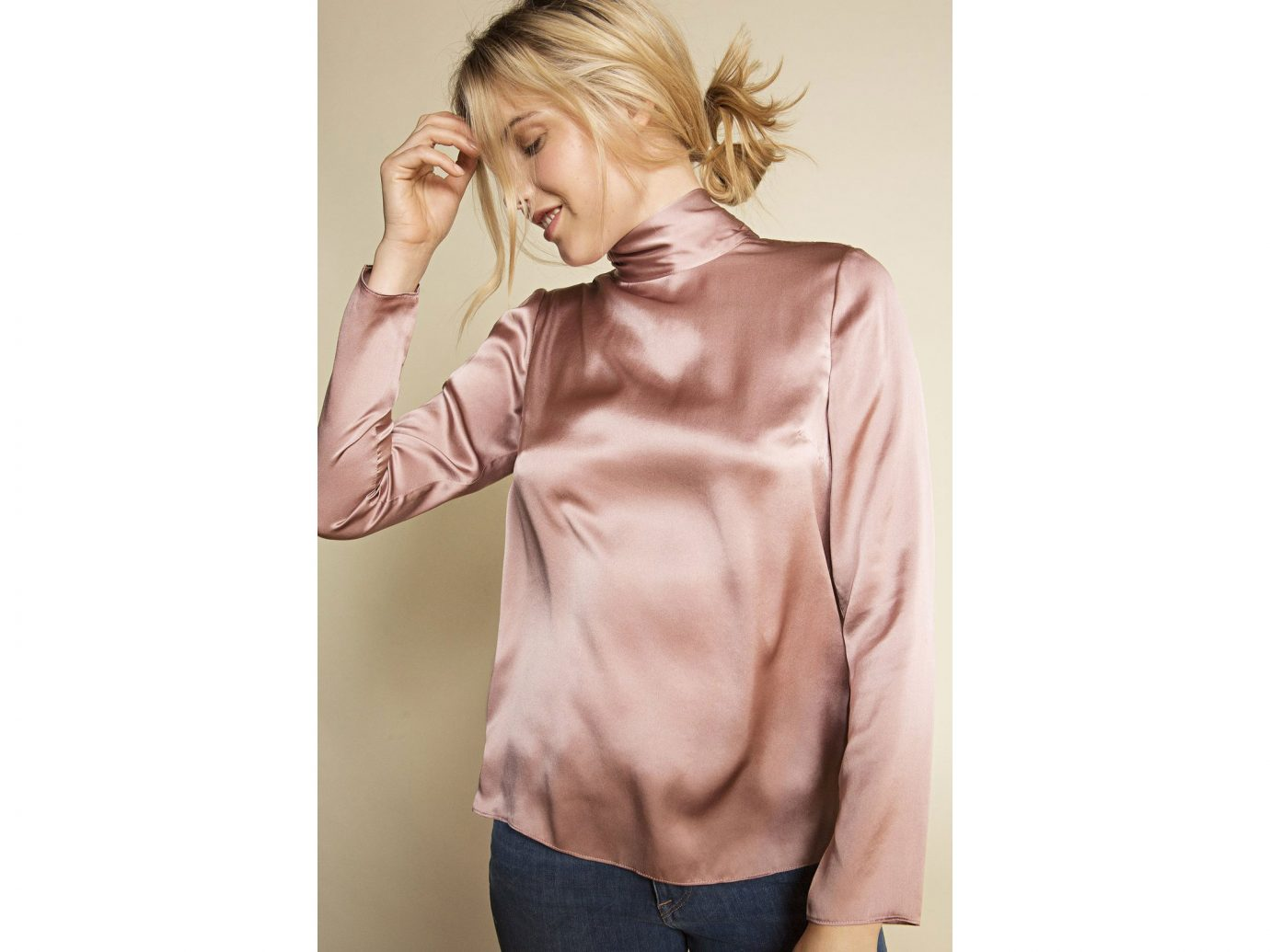 Frances-Austen The Bow Back Blouse, Nude Pink