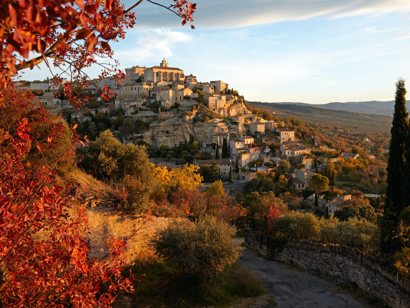 Gordes, Vaucluse, Provence, France on a morning in autumn.