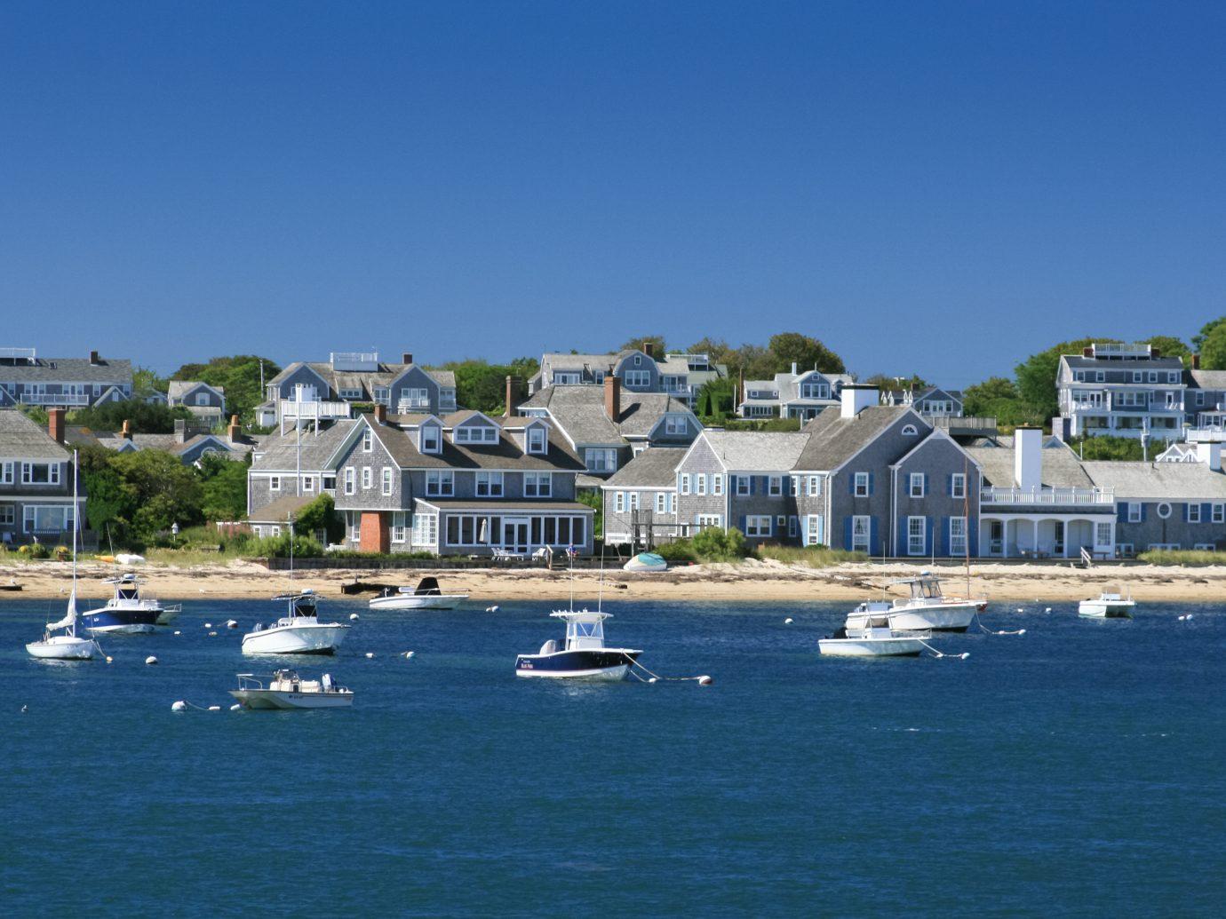 Boats and waterfront Houses, Nantucket, Massachusetts
