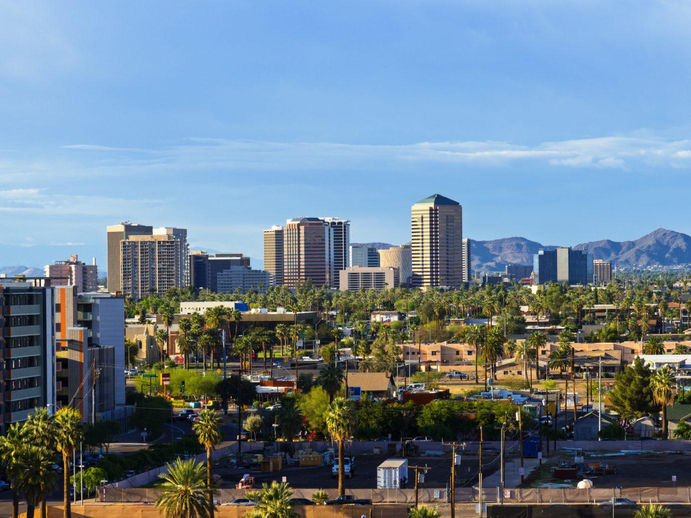 Downtown Scottsdale and suburbs of Phoenix, Arizona